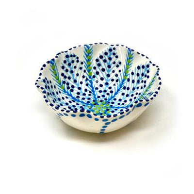 Twilly Bowl - Turquoise, Blue and Green Pattern