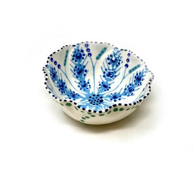 Twilly Bowl - Turquoise and Blue Pattern