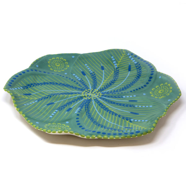 Twilly Dinner Plates - Juniper Green Pattern