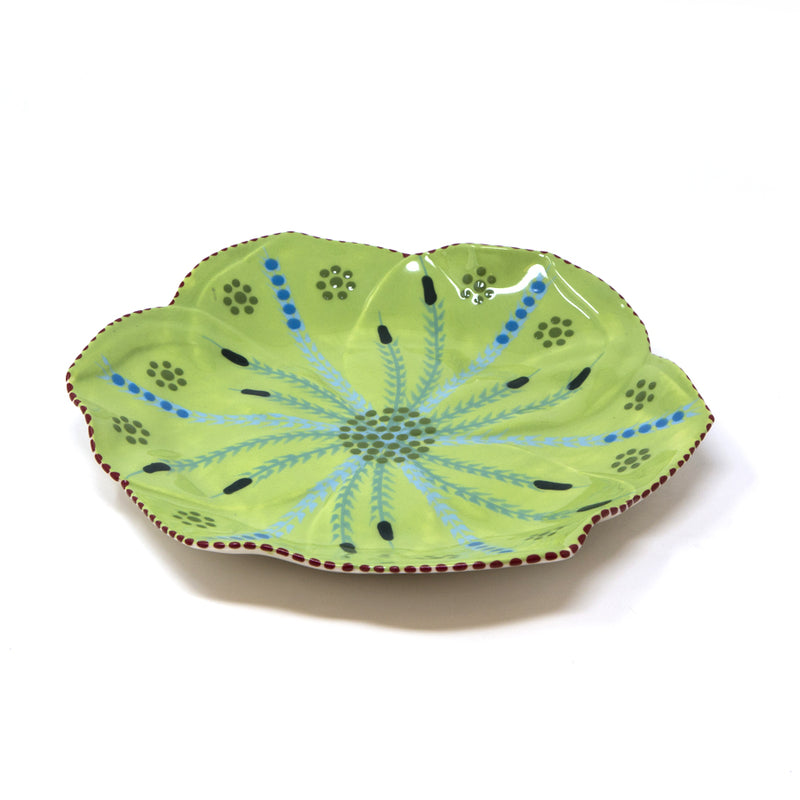 Twilly Dessert Plates - Leaf Pattern