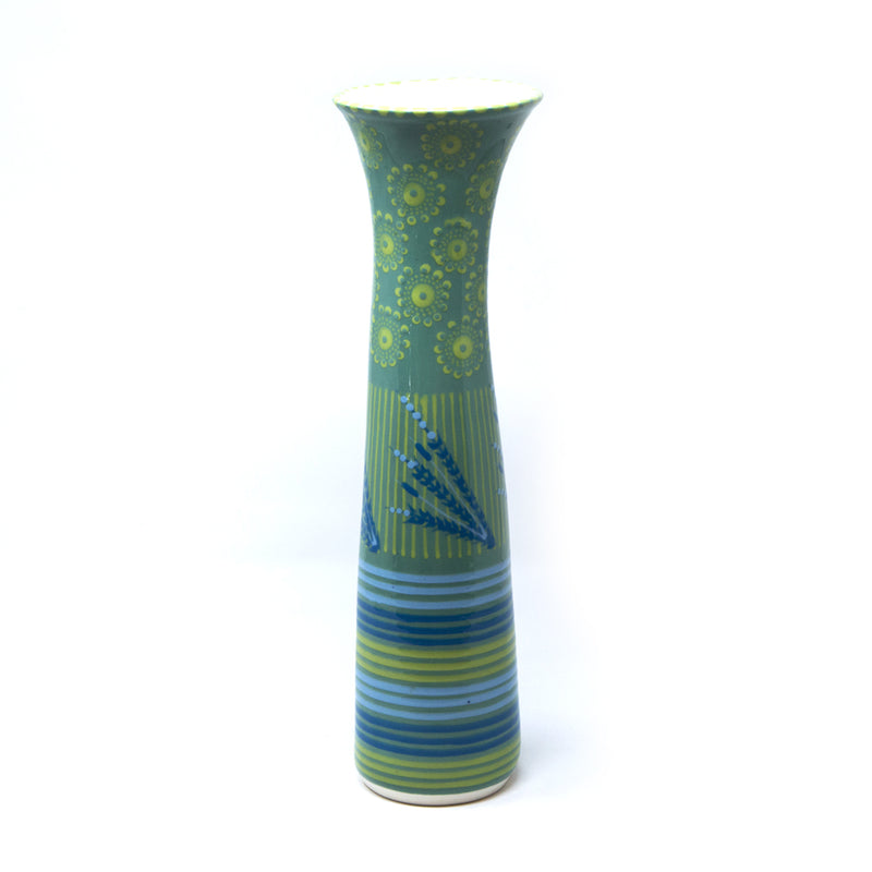 Twilly Flower Vase - Juniper Green Pattern
