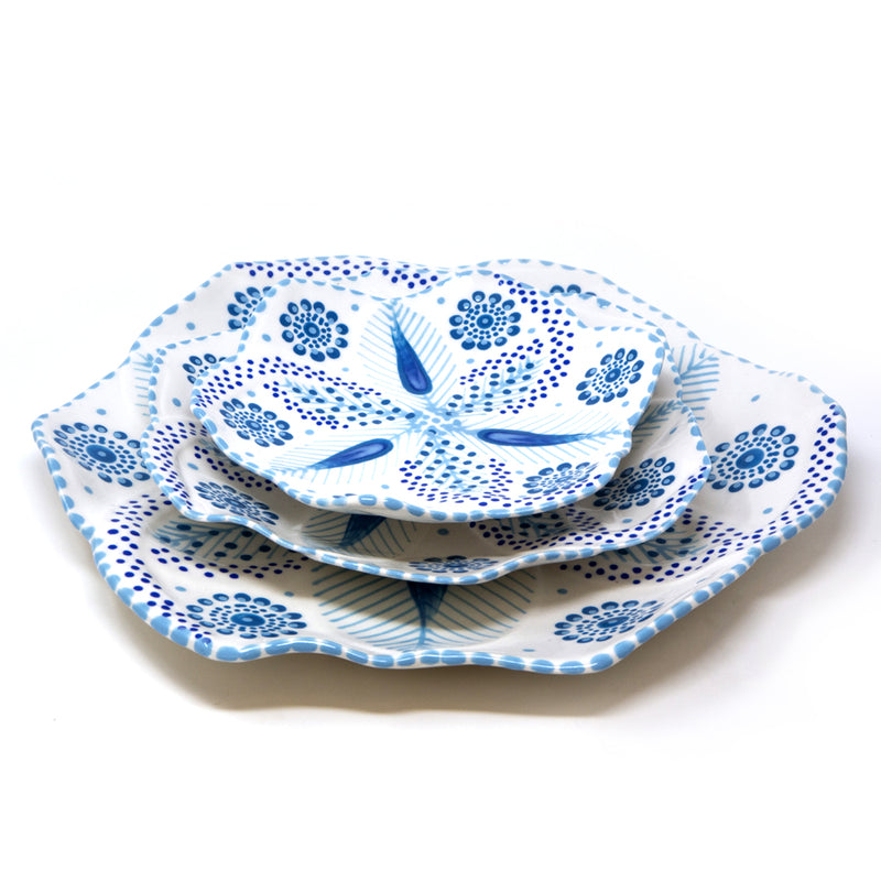 Twilly Dessert Plates - Turquoise Pattern
