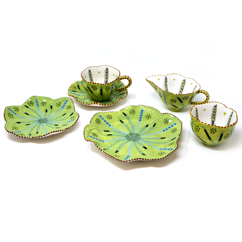 Twilly Cocktail Plates - Leaf Pattern