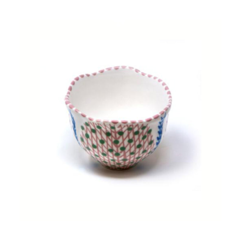 Twilly Sugar Pot - Light Coral Red Pattern