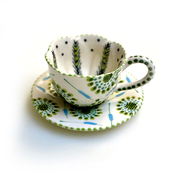 Twilly Coffee Cup  - Juniper Green Pattern