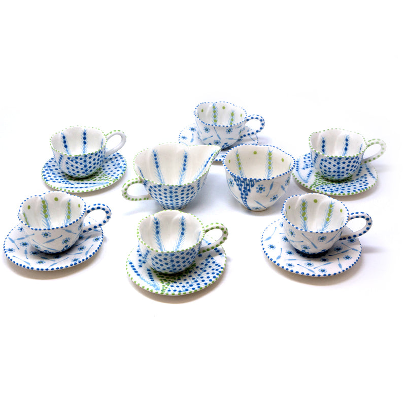 Twilly Coffee Set - Turquoise Pattern
