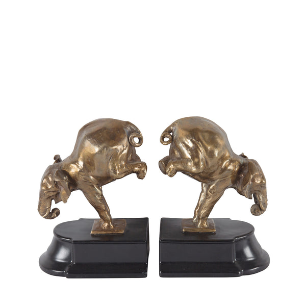 Bronze Elephants - Bookends