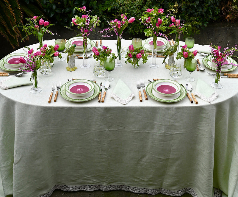 Pale Green Tablecloth