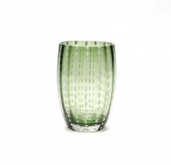 Tumbler Glass - Dark Green Pearl