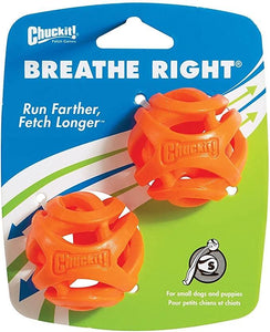Chuckit Chuckit! Breathe Right Ball Dog Toy Small 2 pack