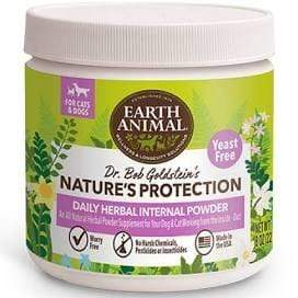 Earth Animal Earth Animal Nature's Protection Flea & Tick Dog & Cat Daily Herbal Internal Powder - Yeast Free - 8 oz.