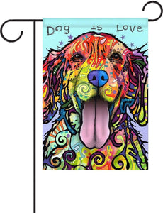 Gateway Lane Dog Is Love Garden Flag