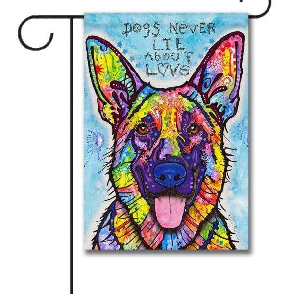 Gateway Lane Dogs Never Lie About Love Garden Flag