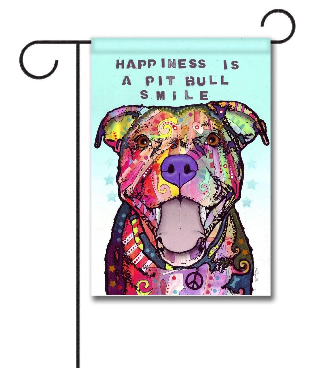 Gateway Lane Happiness is a Pit Bull Smile Garden Flag