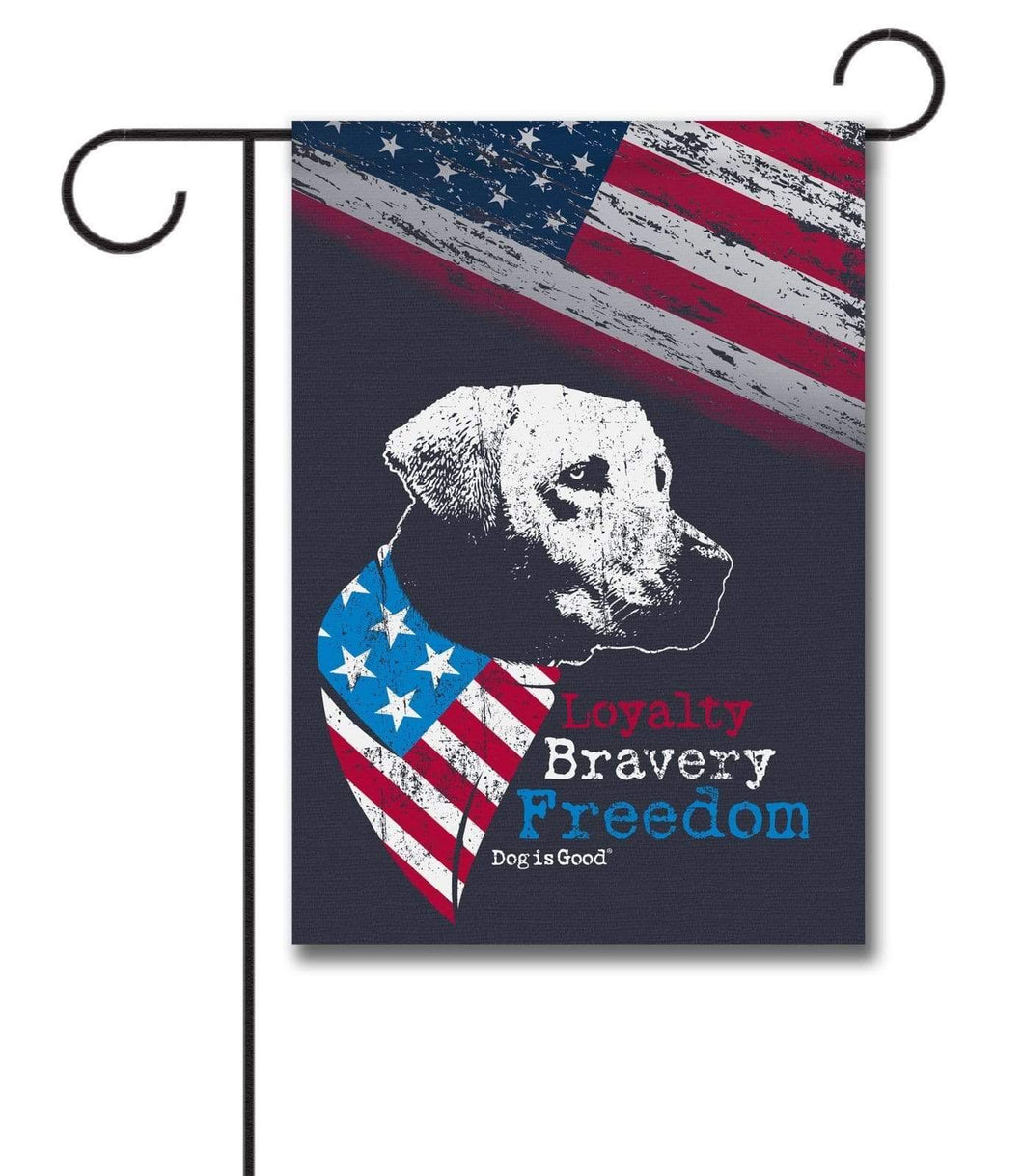 Gateway Lane Loyalty Bravery Freedom Garden Flag