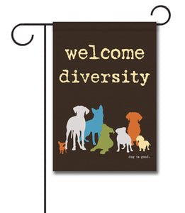 Gateway Lane Welcome Diversity Garden Flag