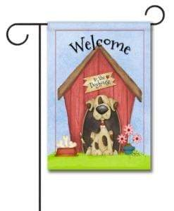 Gateway Lane Welcome to the Dog House Garden Flag
