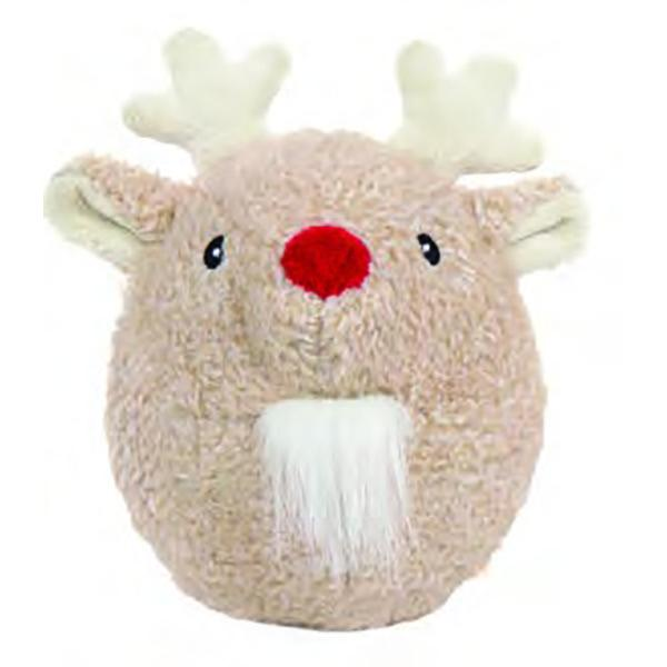 Hugglehounds Hugglehounds Christmas Ball Reindeer Dog Toy