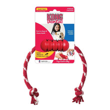 Load image into Gallery viewer, Kong Kong Dental with Rope Dog Toy - Small