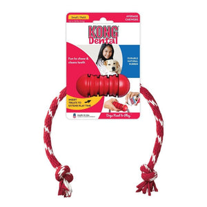 Kong Kong Dental with Rope Dog Toy - Small