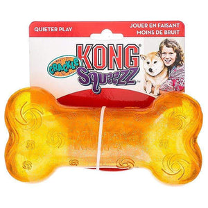 Kong Kong Squeezz Crackle Bone Dog Toy
