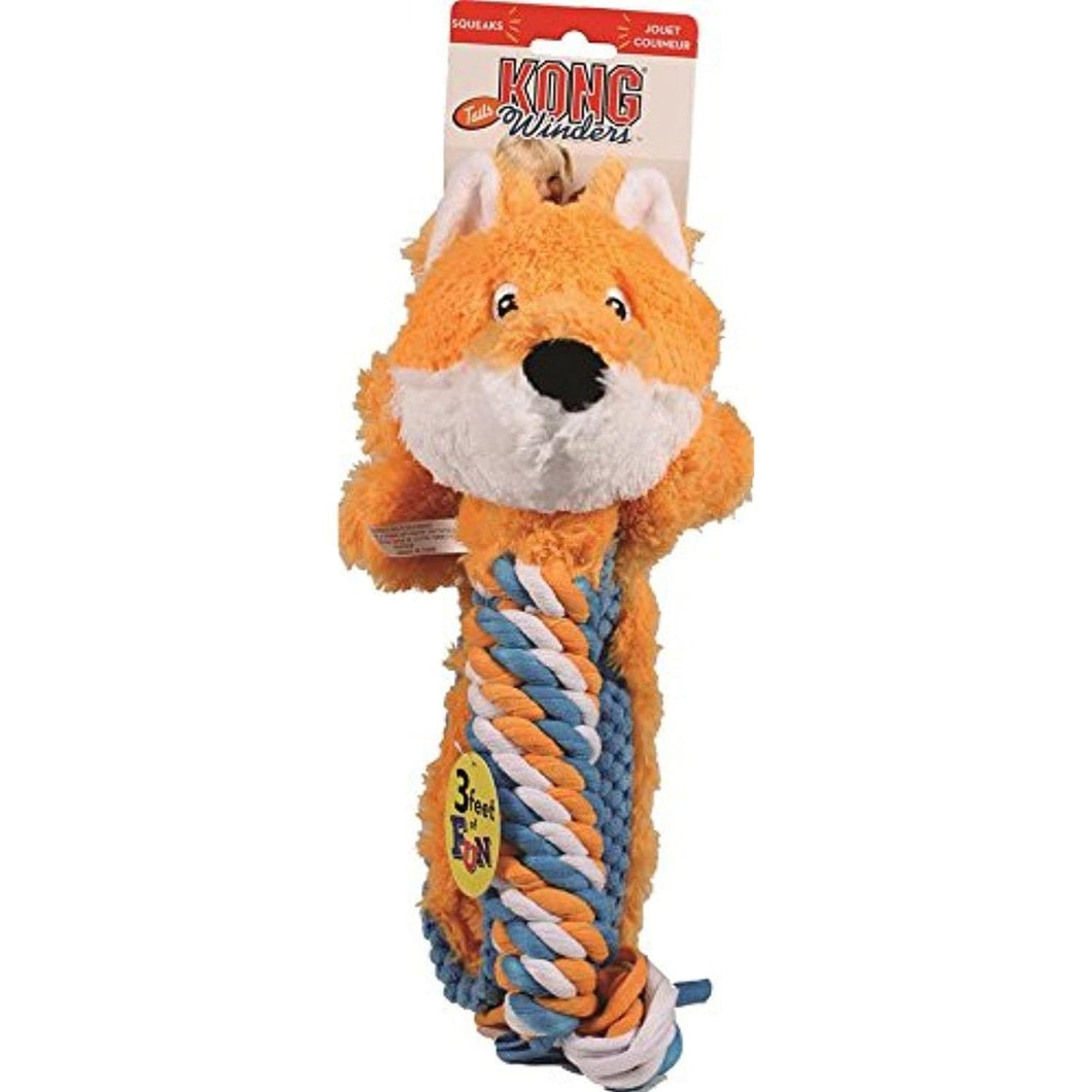 Kong Kong Winders Tails Fox Dog Toy - Large