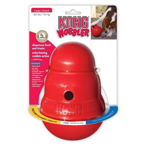 Kong Kong Wobbler Food and Treat Dispenser Dog Toy Large