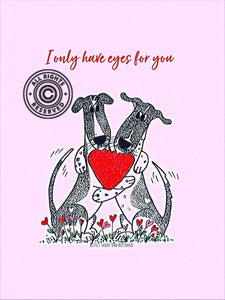 Lagoon Pet Products Digital Valentine Card Fundraiser Only Have Eyes For You - Pink