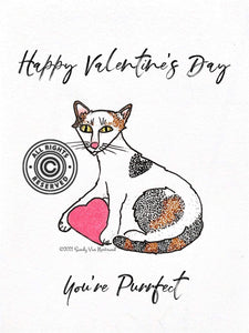 Lagoon Pet Products Digital Valentine Card Fundraiser You're Purrfect