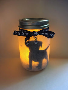 Lagoon Pet Products Handmade Mason Jar Candle - Standing Puppy