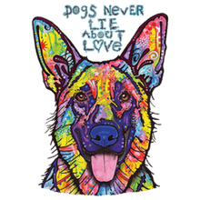 Load image into Gallery viewer, Lone Wolf Products Dogs Never Lie About Love T-Shirt