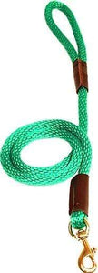"Lone Wolf Products Lone Wolf 1/2"" Solid Color Round Rope Dog Leash - 6' only Kelly Green"