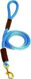 "Lone Wolf Products Lone Wolf 1/2"" Solid Color Round Rope Dog Leash - 6' only Sky Blue"