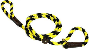 "Lone Wolf Products Lone Wolf 1/2"" Spiral Color Round Rope Dog Slip Lead - 6' only Bumble Bee Black/Yellow"