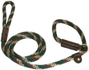 "Lone Wolf Products Lone Wolf 1/2"" Spiral Color Round Rope Dog Slip Lead - 6' only Camouflage"