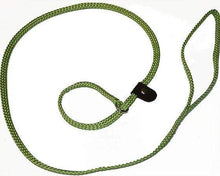 "Load image into Gallery viewer, Lone Wolf Products Lone Wolf 1/4"" Solid Color Flat Rope Dog Slip Lead - 6' only Lime Green"