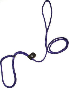 "Lone Wolf Products Lone Wolf 1/4"" Solid Color Flat Rope Dog Slip Lead - 6' only Purple"