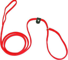 "Load image into Gallery viewer, Lone Wolf Products Lone Wolf 1/4"" Solid Color Flat Rope Dog Slip Lead - 6' only Red"