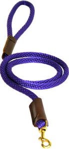 "Lone Wolf Products Lone Wolf 3/8"" Solid Color Round Rope Dog Leash - 6' only Purple"