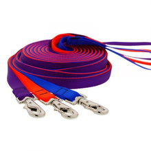 "Load image into Gallery viewer, Lupine Lupine 1/2"" Solid Color Dog Training Lead - 15' Long"