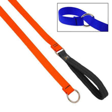 "Load image into Gallery viewer, Lupine Lupine Basic Solids Slip Lead for Dogs 3/4"" / Blaze Orange"