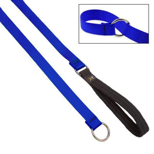 "Lupine Lupine Basic Solids Slip Lead for Dogs 3/4"" / Blue"