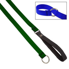 "Load image into Gallery viewer, Lupine Lupine Basic Solids Slip Lead for Dogs 3/4"" / Green"