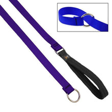 "Load image into Gallery viewer, Lupine Lupine Basic Solids Slip Lead for Dogs 3/4"" / Purple"