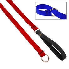 "Load image into Gallery viewer, Lupine Lupine Basic Solids Slip Lead for Dogs 3/4"" / Red"