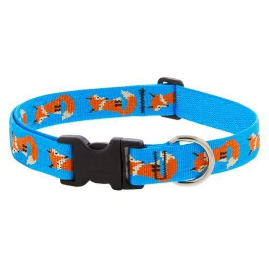 "Lupine Lupine Foxy Paws Dog Collar - 3/4"" Only"