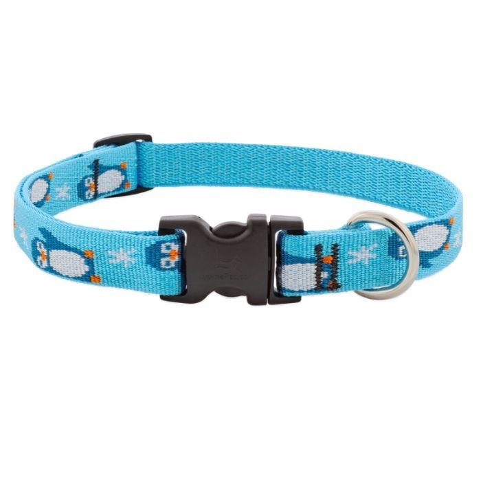 "Lupine Lupine Penguin Party Dog Collar - 3/4"" Only"