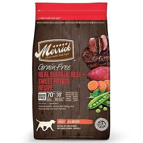 Merrick Merrick Grain Free Real Buffalo, Beef & Sweet Potato Recipe