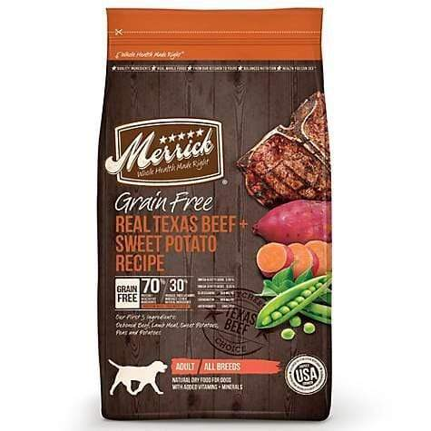 Merrick Merrick Grain Free Real Texas Beef & Sweet Potato Recipe