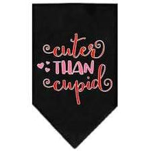 Load image into Gallery viewer, Mirage Pet Products Cuter Than Cupid Valentine's Dog Bandana Small / Black